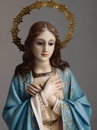 祝福された聖母マリアの祈り 65cm /G877 - Glicinia 古道具店