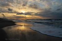 輝く冬の渚 - デジタルで見ていた風景