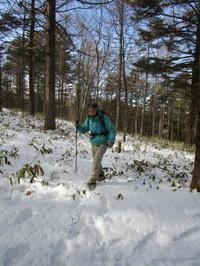 雪の入笠山へ - モルゲンロート
