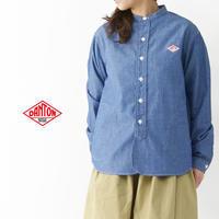 DANTON [ダントン] W's L/S CHAMBRAY NO COLLAR SHIRTS [JD-3606COC] ノーカラーシャツ・シャンブレーシャツ・長袖シャツ・レディース・LADY'S - refalt blog