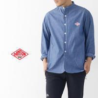 DANTON [ダントン] L/S CHAMBRAY NO COLLAR SHIRTS [JD-3607COC] ノーカラーシャツ・シャンブレーシャツ・長袖シャツ・メンズ・MEN'S - refalt blog