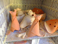 素焼き窯出しと喜安幸夫2月7日(金) - しんちゃんの七輪陶芸、12年の日常