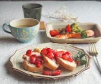 いちごソースの幸せ朝ごはん - 陶器通販・益子焼 雑貨手作り陶器のサイトショップ 木のねのブログ