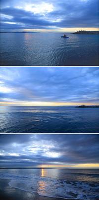 2020/02/10(MON) 曇り空の隙間から日の出が昇る。 - SURF RESEARCH