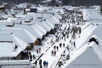 冬の大内宿1 - デジタルで見ていた風景