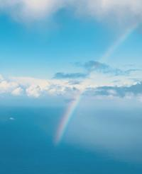 面白い虹に遭遇〜♬ - Takako's Diary