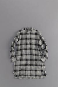 HAVERSACK L/S Long Shirt (Black Check) - un.regard.moderne