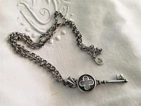 シルバー鍵のペンダント177値下げ - スペイン・バルセロナ・アンティーク gyu's shop