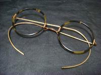 アンティークべっ甲の丸眼鏡 - アンティーク(骨董) テンナイン