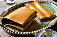 イタリアンヴィンテージバケッタ・コンパクト2つ折り財布と2本差しペンケース - 時を刻む革小物 Many CHOICE~ 使い手と共に生きるタンニン鞣しの革