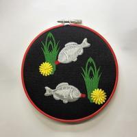 刺繍枠寿司桶に醤油差し刺繍ϵ( 'Θ' )϶ - ソライロ刺繍