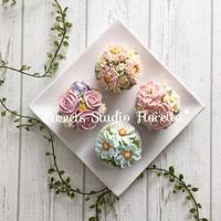 ALA餡クリームフラワーカップケーキ2(ブーケカップケーキ)レッスンのご紹介 - Sweets Studio Floretta* Flower Cake & Sweets Class@SHIGA
