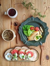 アボカドサンド朝ごはん - 陶器通販・益子焼 雑貨手作り陶器のサイトショップ 木のねのブログ