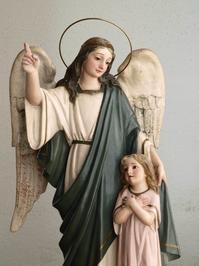 守護天使と幼子像 高:44.3cm ガーディアン・エンジェル     /G902 - Glicinia 古道具店