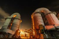 Factory night view - デジタルで見ていた風景