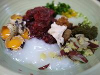 エゾ鹿いろいろ6日目うずら卵おかゆさつま芋 - ワンワンディッシュ ごちそうさま