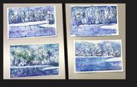 冬の定番雪景色 - リンデンの木陰で。楽しむアート通信