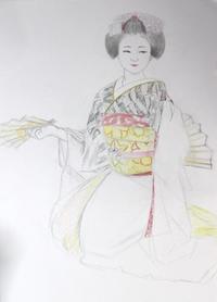 舞妓さんモデル祇園甲部佳つ桃ちゃん - 黒川雅子のデッサン  BLOG版