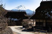 茅葺きから見る富士 - 感動模写Ⅲ
