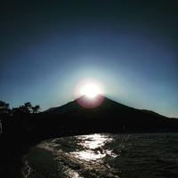 2月の山中湖初めて見た!神秘的なダイヤモンド富士☆山中湖 - くちびるにトウガラシ