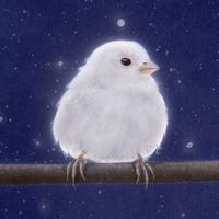 【#毎日一絵チャレンジ】#アクリル画 #おまん獣「スズメ ver.1.4〔白い雀〕」#メイキング #白銀の鳥展 - junya.blog(猫×犬)リアリズム絵画