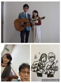 新年会パーティでの演奏🎶 - キミティのお花とギター