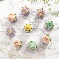 フラワーカップケーキサンプルつくり - Sweets Studio Floretta* Flower Cake & Sweets Class@SHIGA