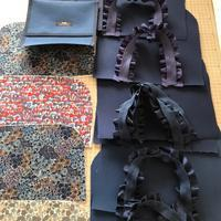 リバティロッセリーと帆布のトート - Flora 大人服とナチュラル雑貨