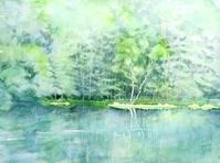 御射鹿池(みしゃがいけ)-初夏 - ryuuの手習い