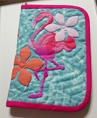 お薬手帳ケース☆フラミンゴ☆ - ほっと一息・・~Sakura's Hawaiian QuiltⅡ
