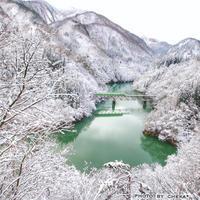 なごり雪  雪景色の只見線第三橋梁 - C* 日和