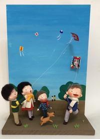 昭和の凧揚げクレイドール - 図工舎 zukosya blog