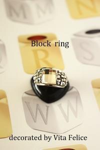 新作★Block ring このキラキラ感に魅せられて - 神戸インテリアコーディネーターのグルーデコ®教室☆Vita Felice☆(JGA認定校)