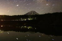 令和2年3月の富士(1)精進湖の夜の富士 - 富士への散歩道 ~撮影記~