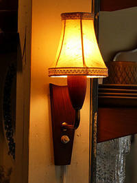 Teak Wall Lamp - hails blog