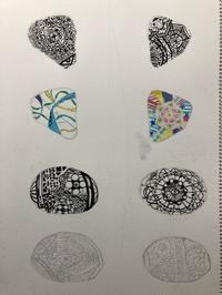 一般コース、石にゼンタングルを描きます。 - 大﨑造形絵画教室のブログ