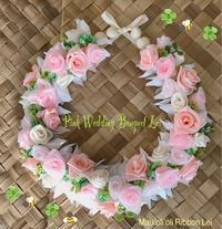 ピンクウェディングブーケレイ - *マウオリオリ* リボンレイ~Happy♪ Joyful♪ Thankful !!