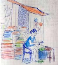 Day2 街の様子 - たなかきょおこ-旅する絵描きの絵日記/Kyoko Tanaka Illustrated Diary