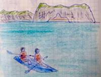 Day2 ハロン湾クルーズ1 - たなかきょおこ-旅する絵描きの絵日記/Kyoko Tanaka Illustrated Diary