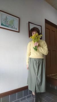 """散り行く菜の花と一緒に""""菜の花コーデ""""? - 楽しく元気に暮らします"""