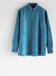 CaleLinen Salt Shrink Shirt / Uneven dye - 『Bumpkins putting on airs』