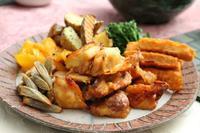 鶏天と長芋蒸し・・・千疋屋のフルーツ詰め合わせ - 登志子のキッチン