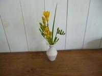 クロスの平皿と可憐な花 - サンカクバシ 土と私の日記
