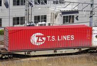 3/20東京貨物ターミナル着4072レのコキとコンテナ - 急行越前の鉄の話
