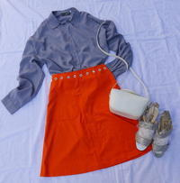 Coodinate Courreges skirt - carboots