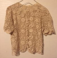 French antique crochet Lace - carboots