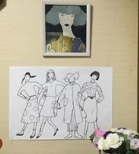 襖にイラスト せりのお寿司 - ギャラリーとーちきの夢布布日記