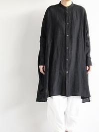 R&D.M.Co-  LINEN DOLMAN SLEEVE SHIRT / Black - 『Bumpkins putting on airs』