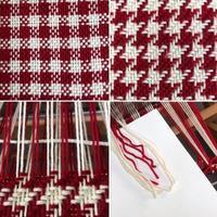 手編み用毛糸で織る 1 - スコットランドチェック