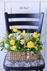 3月Living flowerクラスのアレンジ - Le vase*  diary 横浜元町の花教室